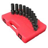 "Sunex Tools 2658 10 Piece 1/2"" Drive Deep Universal Metric Impact Socket Set"