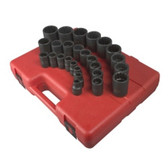 Sunex Tools 2826 26 PIece 1/2€ Drive 12 Point Metric Impact Socket Set