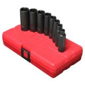 "Sunex Tools 3652 8 Piece 3/8"" Drive 6 Point Deep SAE Impact Socket Set"