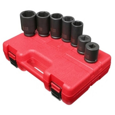 "Sunex Tools 4070M 7 Piece 3/4"" Drive 6 Point Metric Deep Truck Service Impact Socket Set"