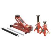 Sunex Tools 66037JPK 3.5 Ton Floor Service Jack with 6 Ton Jack Stands