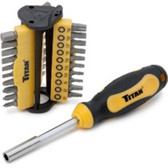 Titan Tools 32972-6 31 Pc. Bit Driver Set 6pc