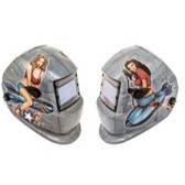 Titan Tools 41288 Solar Powered Auto Darkening Welding Helmet, Pin Up Girls