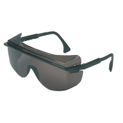 Uvex S2504 Astro Over-The-Glass Safety Glasses with Black Frames/Gray Lens
