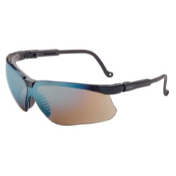 Uvex S3203 Genesis Black Frame Safety Glasses with Gold Mirror Lens + UD Coating