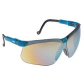 Uvex S3243 Genesis Vapor Blue Frame Safety Glasses w/ Gold Mirror Lens + UD Coating