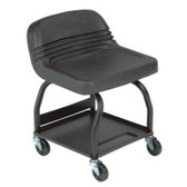 Whiteside Manufacturing HRS Large Padded Mechanic's Seat - Black