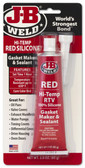 JB Weld 31314 High Temperature Red Acetoxy Silicone Sealant - 3 Oz.