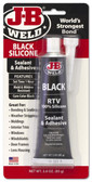 JB Weld 31319 Black RTV Acetoxy Silicone Sealant - 3 Oz.