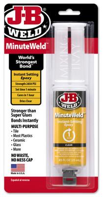 JB Weld 50101 MinuteWeld Syringe Adhesive - 25 Ml