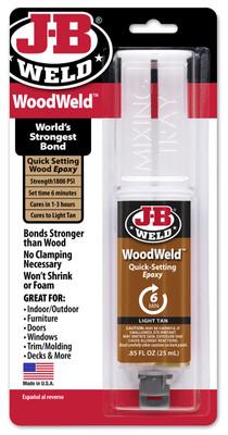 JB Weld 50151 WoodWeld Syringe Bonding Adhesive