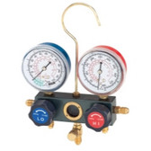FJC  6697M Dual Manifold Gauge Set with Manual Service Couplers