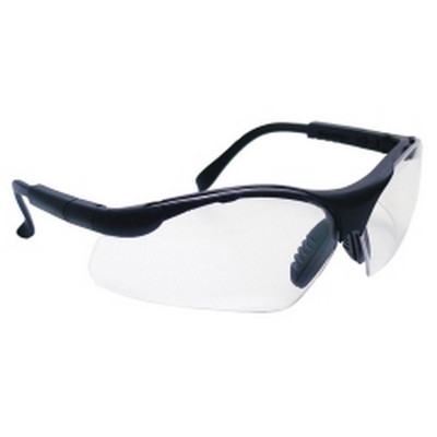 SAS Safety 541-0000 Sidewinders Safety Glasses - Black Frames/Clear Lens