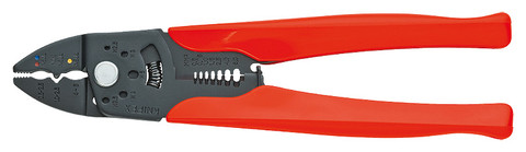 Knipex 9732225 Crimping Pliers Burnished With Plastic Grips 9 In