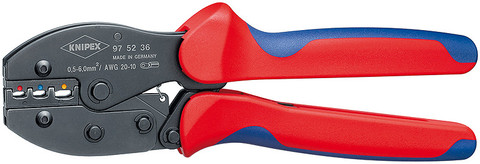 Knipex 975236 Preciforce® Crimping Pliers With Multi-Component Grips 8 3/4 In