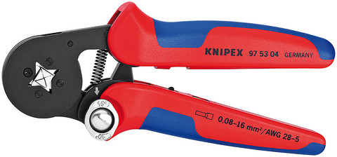 Knipex 975304 Self-Adjusting Crimping Pliers For End Sleeves With Lateral Access 7 1/4 In