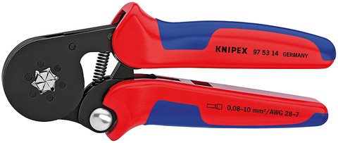 Knipex 975314 Self-Adjusting Crimping Pliers For End Sleeves With Lateral Access 7 1/4 In