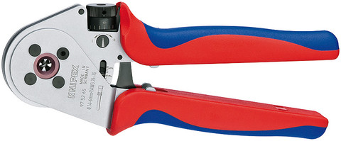 Knipex 975265 Four-Mandrel Crimping Pliers For Turned Contacts Chrome Plated 9 In