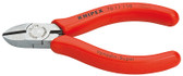 Knipex 7011110 Diagonal Cutter Polished Plastic Coated 4 1/4 In