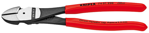 Knipex 7401180 High Leverage Diagonal Cutter Black Plastic Coated 7 1/4 In