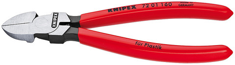 Knipex 7201140 Diagonal Cutter For Plastics Plastic Coated 5 1/2 In