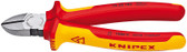 Knipex 7008180SBA Diagonal Cutter Insulated With Two-Colour Dual Component Handles, Vde-Tested