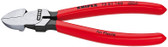 Knipex 7201180 Diagonal Cutter For Plastics Plastic Coated 7 1/4 In