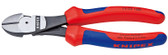 Knipex 7402200 High Leverage Diagonal Cutter Black With Multi-Component Grips 8 In