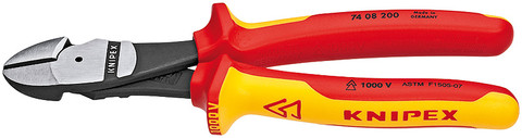Knipex 7408200US High Leverage Diagonal Cutter Insulated, 1000V 8 In