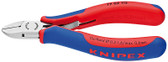 Knipex 7702115 Electronics Diagonal Cutter With Multi-Component Grips 4 1/2 In