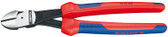 Knipex 7422250 High Leverage Diagonal Cutter Black With Multi-Component Grips 10 In