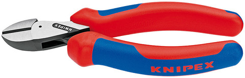 Knipex 7302160SB X-Cut Compact Diagonal Cutter Chrome Plated Insulated Grips, 1000V 6 1/4 In
