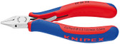 Knipex 7752115 Electronics Diagonal Cutter With Multi-Component Grips 4 1/2 In