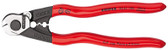 Knipex 9561190SBA Bowden Cable Cutter Plastic Coated 7 1/2 In