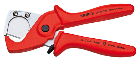 Knipex 9020185 Pipe Cutter For Flexible Pipes and Protective Tubes 7 1/4 In