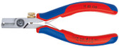 Knipex 1182130 Electronics Wire Stripping Shears With Multi-Component Grips 5 In