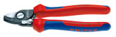 Knipex 9522165 Cable Shears With Opening Spring With Multi-Component Grips 6 1/4 In