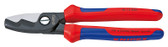 Knipex 9512200 Cable Shears With Twin Cutting Edge With Multi-Component Grips 8 In