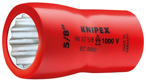 "Knipex 98379/16"" Hexagon Socket With Internal Square 3/8""-1,000V Insulated 9/16"""