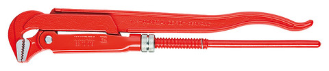 Knipex 8310010 Pipe Wrench 90° Red Powder-Coated 12 1/2 In