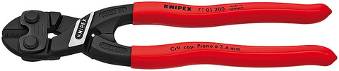 "Knipex 7101200R Cobolt® ""Fencing"" Compact Bolt Cutter Black With Non-Slip Plastic Coating 8 In"