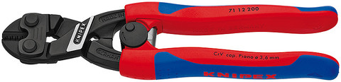 Knipex 7112200 Cobolt® Compact Bolt Cutter Black With Slim Multi-Component Grips 8 In