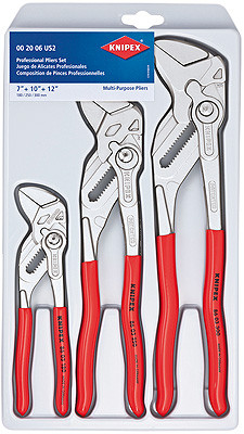 "Knipex 002006US2 Pliers Set ""Pliers Wrench"" In Plastic Deep-Drawn Packaging"