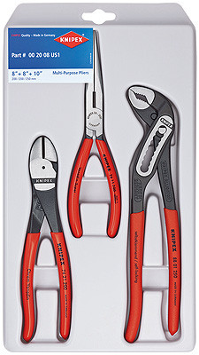 "Knipex 002008US1 ""Kraft 1"" Set Of Pliers In Plastic Deep-Drawn Packaging"