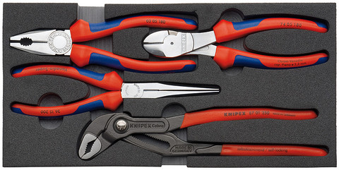 "Knipex 002001V01 Pliers Set ""Basic"" 4 Pliers In A Foam Tray"
