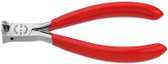 Knipex 6411115 Electronics End Cutting Nipper Plastic Coated 4 1/2 In