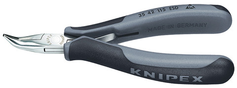 Knipex 3542115ESD Electronics Pliers Esd With Multi-Component Grips 4 1/2 In