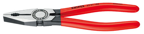 Knipex 0301180 Combination Pliers Black Atramentized Plastic Coated 7 1/4 In