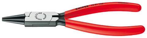 Knipex 2202160 Round Nose Pliers Black Atramentized With Multi-Component Grips 6 1/4 In
