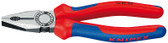 Knipex 0302160 Combination Pliers Black Atramentized With Multi-Component Grips 6 1/4 In